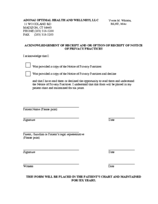 privacy signature form revised 2017